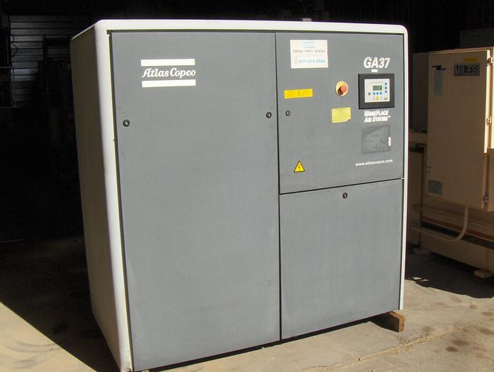 Used 50 Hp Atlas Copco Rotary Screw Air Compressor