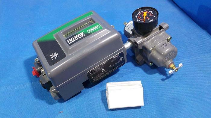 Used FISHER DVC2000 Controller, DVC2000 / FIELDVUE / Fisher / With Fisher Pressure Regulator FS-67CFR-224