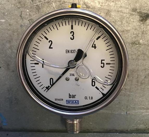 WIKA Radial Pressure Gauge 0-6 bar
