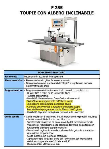 TOUPIE INCLINABILE elettronica CASADEI F255 CE