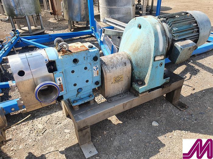 "Used 2013 Waukesha SPX 130 U1 4"" Rotary Lobe Pump"