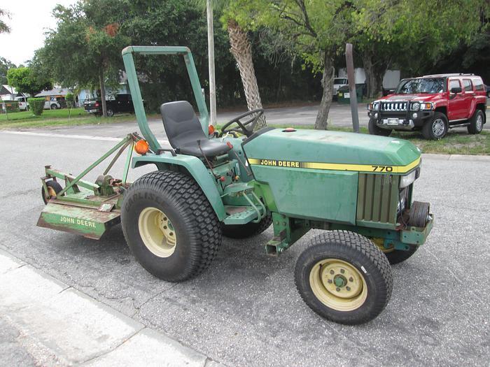 John Deere 770 2 Wheel Drive Tractor With 4' Mower