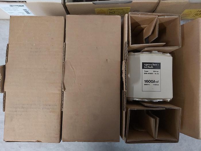 NH Sicherungseinsatz Größe 4, 1600A, 4A-SM4 gL, 500V, Sprecher & Schuh,  neuwertig