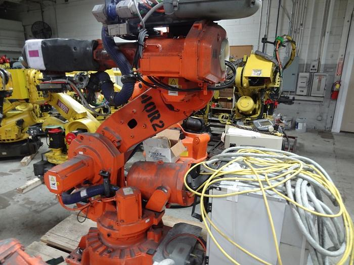 Used ABB IRB 6640 6 AXIS CNC ROBOT 235KG X 2.55 REACH IRC5 CONTROLS