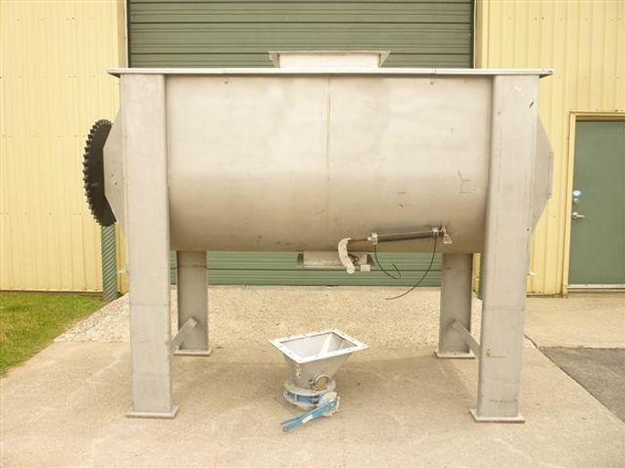 USED RIBBON BLENDER, 75 CUBIC FEET, DOUBLE RIBBON, STAINLESS STEEL