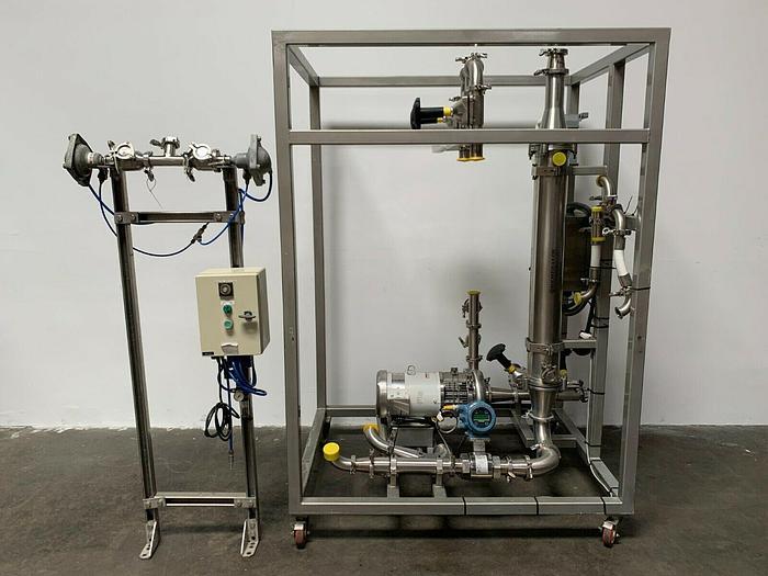 Used Pall CF500 Filtration Skid w/ Membralox Column,Rosemount Flow Meter,Top-Flo Pump