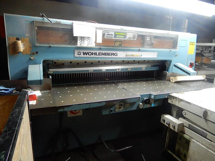 "Used 72"" WOHLENBERG GUILLOTINE CUTTER"
