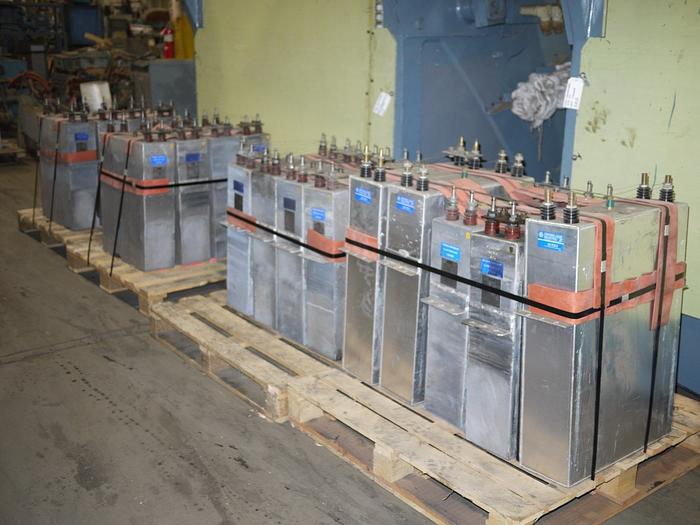 Used ABB CAPACITORS, INDUCTION FURNACE