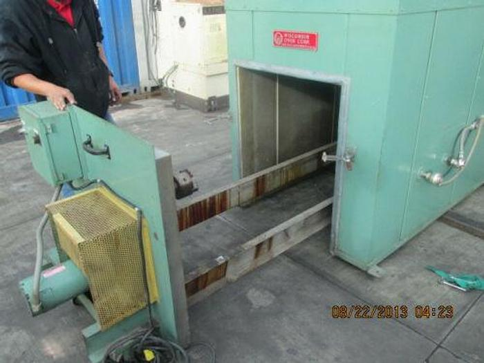 Used WISCONSIN OVEN MODEL BATCH 3-3-8 E/RM 500 DEGREE 3' X 3' X8' ROTARY BATCH