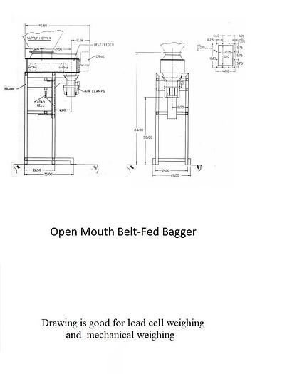 Used NEW OPEN MOUTH BAGGER WITH CONVEYOR FEED – MECHANICAL WEIGHING – UL LISTED (#9797)