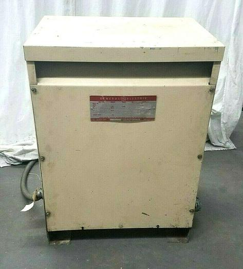 Used GE Transformer 3 Phase Dry Transformer 25 KVA 480 Primary 208 Secondary Tested!
