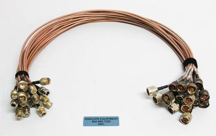Used Belden 3' 83242 M17/158-00001 MIL-DTL-17 12814 Cable M&F Connectors LOT 18, 6991