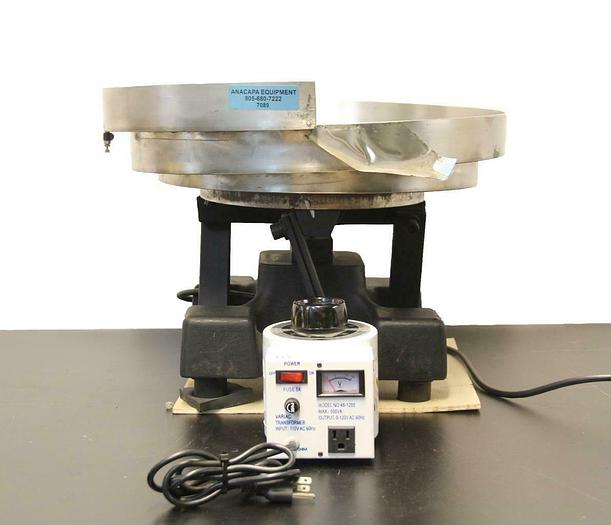 "Used Vibratory Parts Feeder B-18 Bowl Drive w/ 19"" Cascade Bowl & Transformer (7089)"
