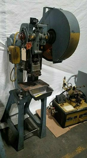 Used 10 Ton Perkins Stamping Punch Press Stamp Forge Bend Metal Parts
