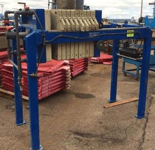 Used 3 CU. FT. FILTRATION SOLUTIONS FILTER PRESS – POLYPRO – 630 MM – C.G.R. – AUTOMATIC CLOSURE