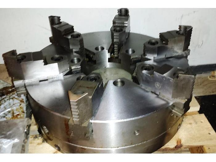 """Used Bison 15-3/4"""" 6-Jaw Adjustable Scroll Chuck"""
