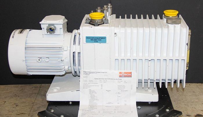 Used Alcatel ZM2033CP+ Dual Stage Rotary Vane Vacuum Pump, 1.5HP Rebuilt (7776) W