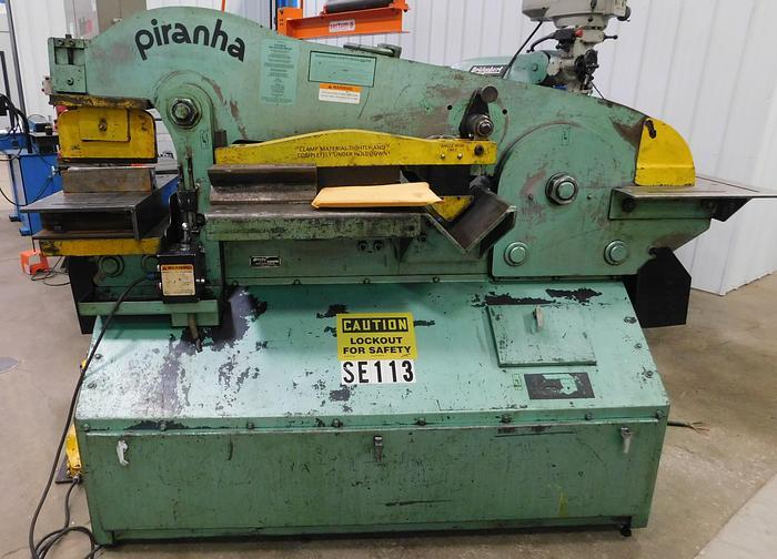 Used Piranha 90 Ton Hydraulic Ironworker P90