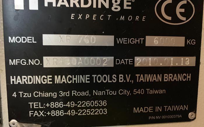 "HARDINGE XR760 VMC PRODUCTION CENTER 30""X24""X24"" W/4TH AXIS TRUNION"