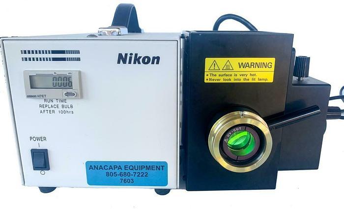 Used Nikon C-SHG Microscope Lamp-house Illuminator With 50W HG Mercury Lamp (7603)W