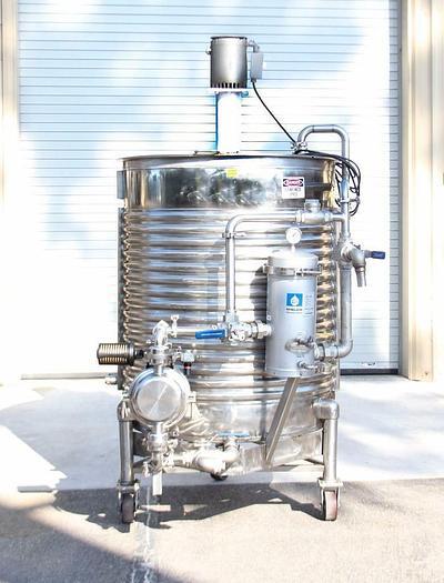 Used United Utensils Sanitary Div 220 gal Stainless Mixer w/ Agitator & Pump  (2872)