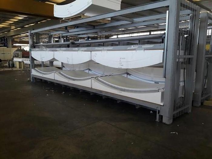 Used Two (2) Like-New Discontinuous Curved and Flat Polystyrene Sandwich Panel Presses: RF-201