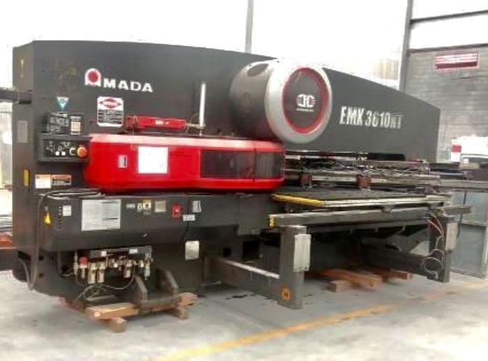 Used 2011 33 Ton Amada EMK-3610NT CNC Turret Punch