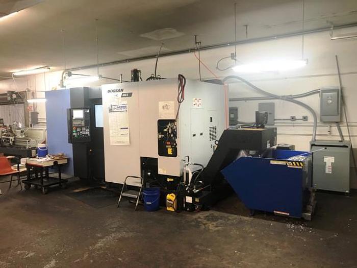 Used 2018 Doosan HC400 II CNC Horizontal Machining Center