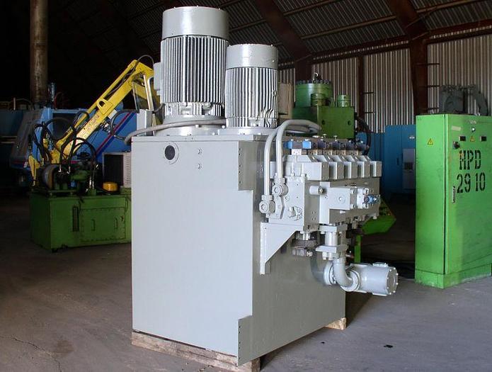 Used 90 hp Rexroth Oilgear Hydraulic Unit 1,500 PSI 500 gal