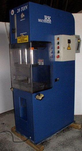Used 20 Ton RK Model CFP20TKAW C-Frame Hydraulic Press; $19,500