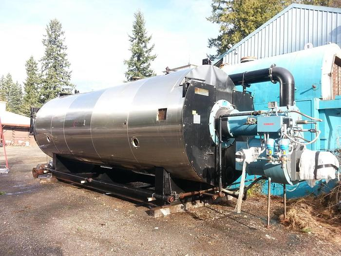 Used YORKSHIPLEY 600 HP BOILER 588 SP600-2H