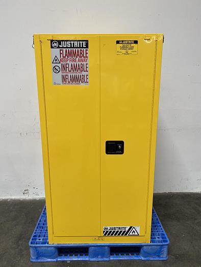 "Used JustRite 29005 60 Gallon Flammable Cabinet 65""x 34""x 34"" Manual Close"