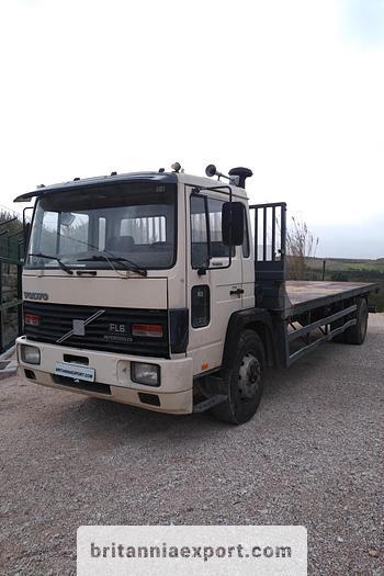 Used 1990 VOLVO FL617 Intercooler flatbed truck