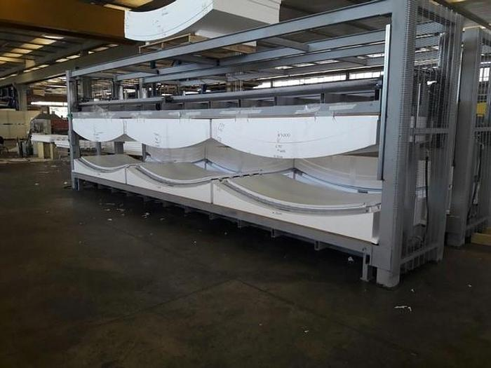 Two (2) Like-New Discontinuous Curved and Flat Polystyrene Sandwich Panel Presses: RF-201