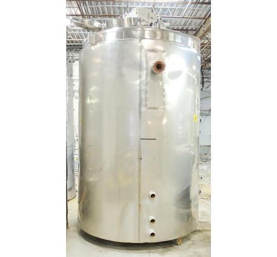 USED 1860 GALLON JACKETED TANK, STAINLESS STEEL, SWEEPER MIXER