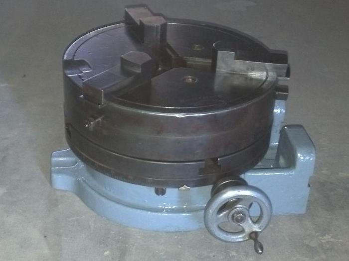 Used 10'' T-Slotted Rotary Table w/ angle mount