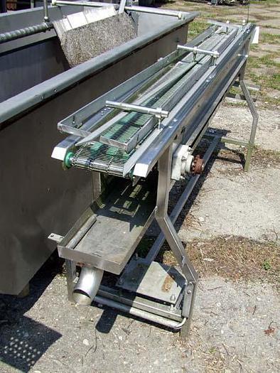 Używane Przenośnik siatkowy siatka KADEMOWSKA z rynną ociekową - nierdzewny