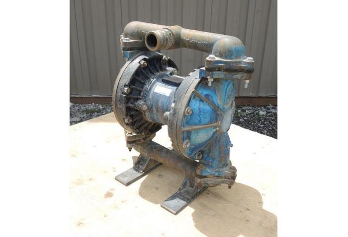 """USED DIAPHRAGM PUMP, 1.5"""" X 1.5"""" INLET & OUTLET, CAST IRON"""