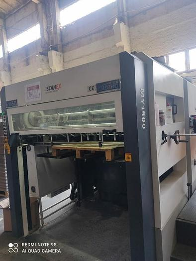 Used 2015 Semi Automatic Die cutter MY 1500 MY 1500