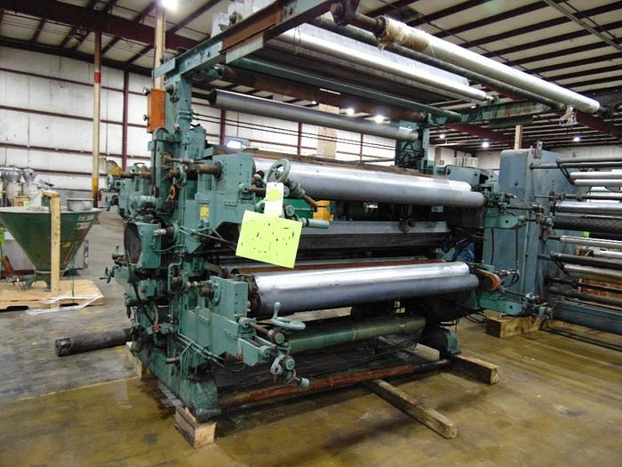 """Used 87"""" WOLVERINE FOUR COLOR FLEXO PRINTING PRESS SECTION"""