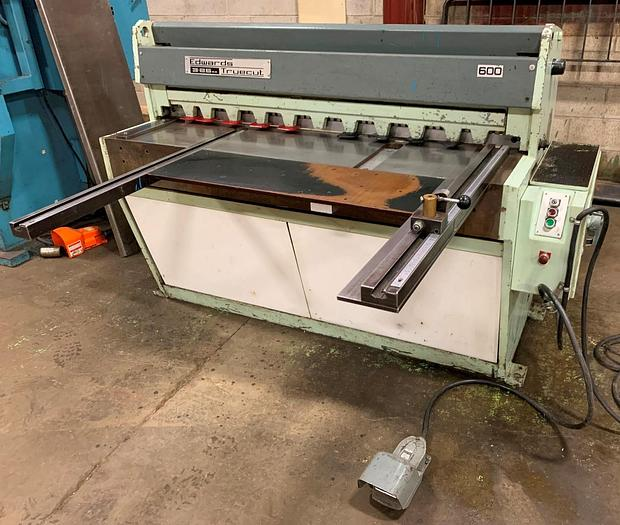 "Used 50"" X 10 GA., EDWARDS, MODEL 3.5 X 1250, MECHANICAL SHEAR"