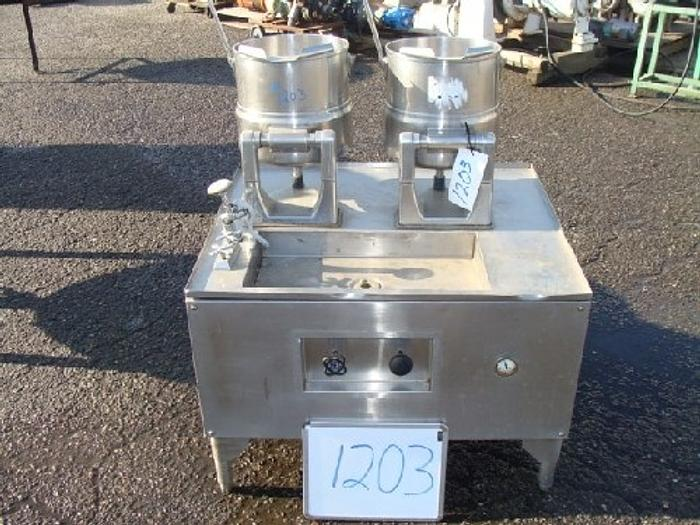 Used Groen Table-top jacketed Lab Kettles