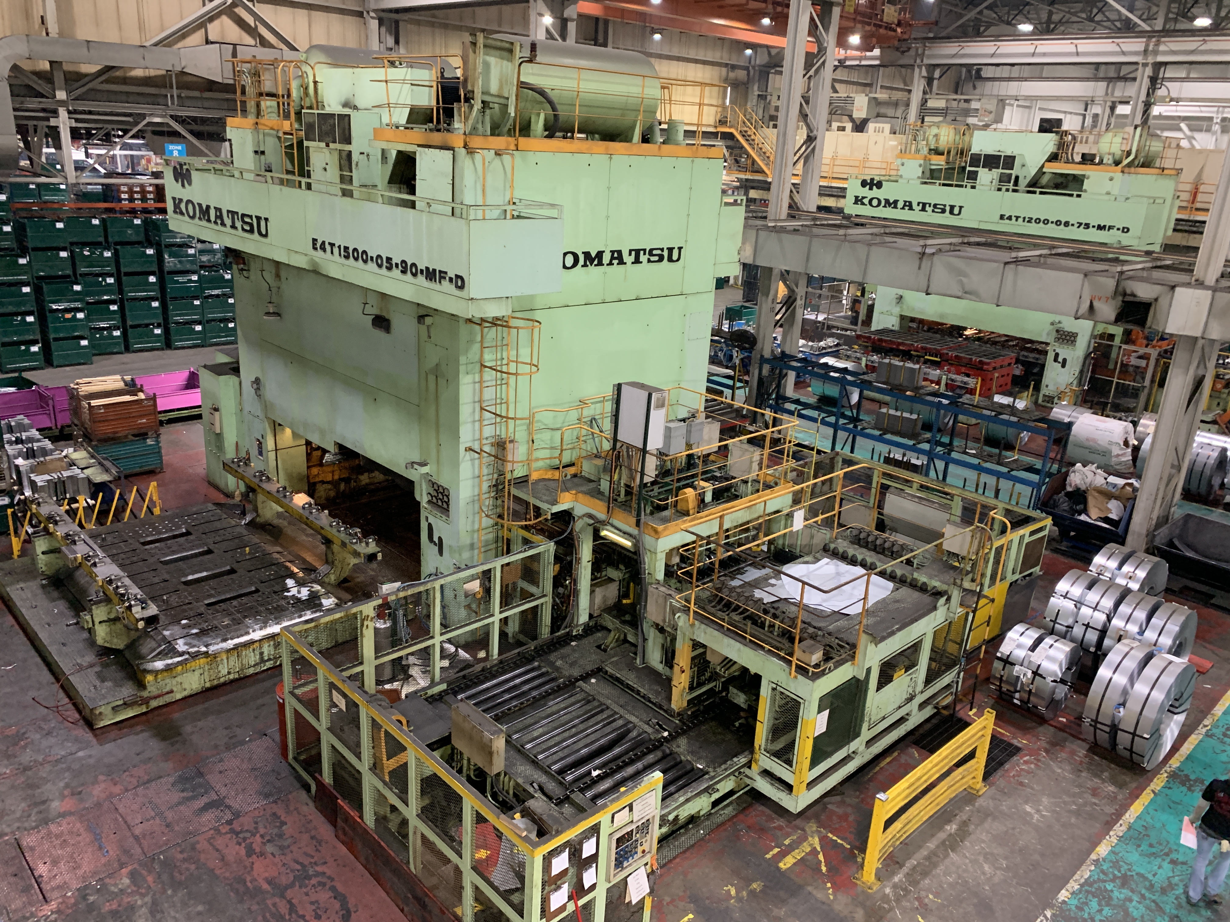 1500 Ton Komatsu Stamping Press For Sale At Master Machinery