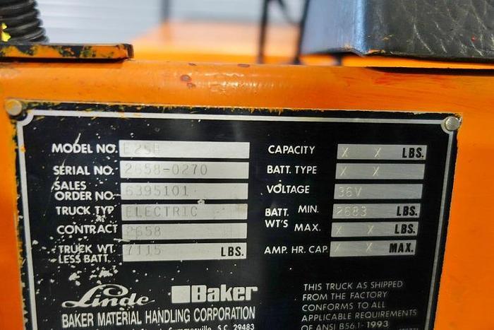 Linde 4500 Lb. Electric Fork Lift E25B