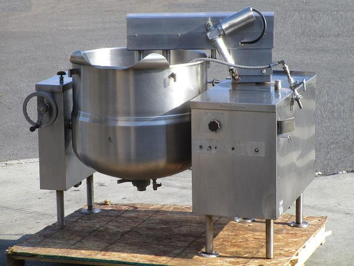 Used MARKET FORGE F60MK, STEAM KETTLE, COOKER MIXER, DIRECT STEAM, DUAL AGITATION, TILTING, SCRAPE SURFACE, (#557C), only @ AMERICA'S STEAM KETTLE HEADQUARTERS !