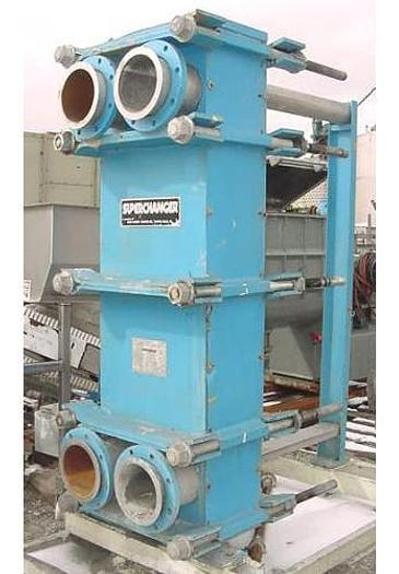 USED HEAT EXCHANGER, PLATE, 557.6 SQ. FT.,304 STAINLESS STEEL