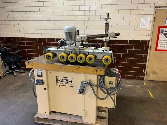Used Ritter Machinery Spindle Shaper R1115 15HP W/Pertici Type 6802 Wheel Feeder