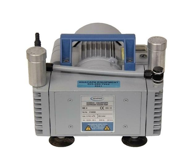 Used Vacuubrand Diaphragm Vacuum Pump ME 4 Max 4,0 m3/h, 80,0 mbar FOR PARTS (8961)R