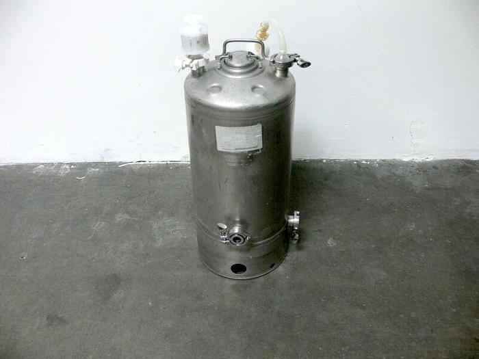 Used Alloy Products 40 L Stainless Steel Pressure Vessel 115 PSI + Sartorius Filters