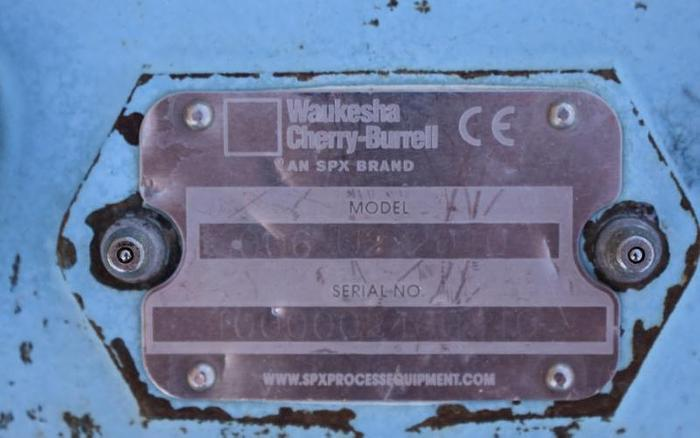 USED WAUKESHA ROTARY LOBE PUMP, BANK OF 6 X MODEL 006-U2, STAINLESS STEEL, SANITARY